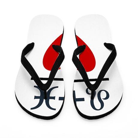 Leo + Pisces = Love Flip Flops