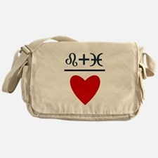 Leo + Pisces = Love Messenger Bag
