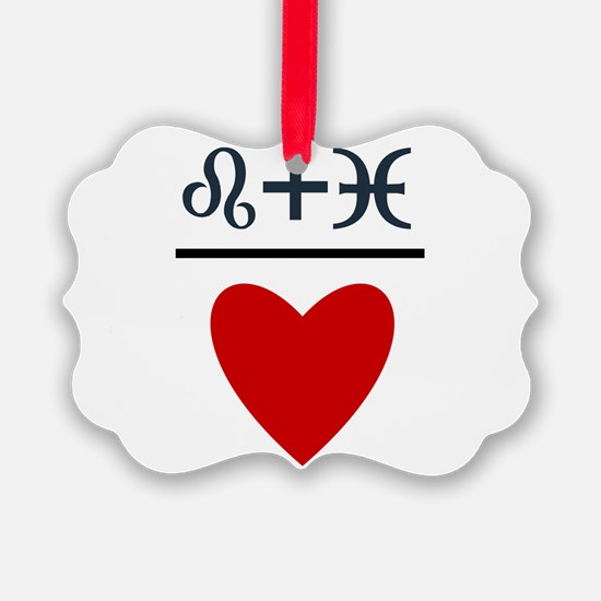 Leo + Pisces = Love Ornament