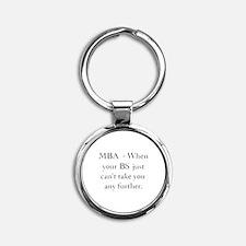 MBA Round Keychain