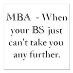 MBA Square Car Magnet 3