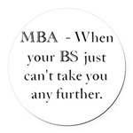 MBA Round Car Magnet