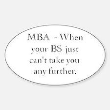 MBA Sticker (Oval)