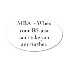 MBA 35x21 Oval Wall Decal