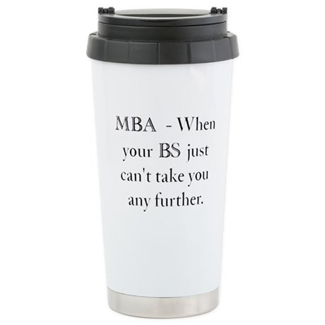 MBA Stainless Steel Travel Mug