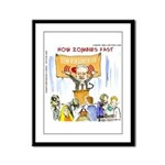 Starving Zombies And Glenn Beck Framed Panel Print