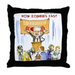 Starving Zombies And Glenn Beck Throw Pillow