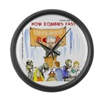 Starving Zombies And Glenn Beck Large Wall Clock