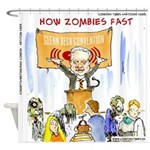Starving Zombies And Glenn Beck Shower Curtain