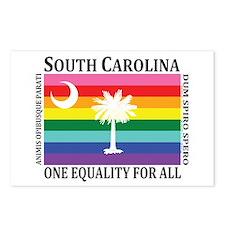 South Carolina one equality blk font Postcards (Pa