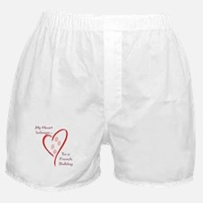 Frenchie Heart Belongs Boxer Shorts