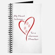German Pinscher Heart Belongs Journal