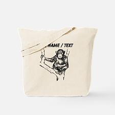 Custom Baby Chimp Sketch Tote Bag