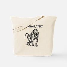 Custom Baboon Sketch Tote Bag