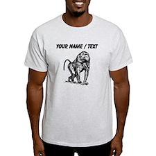 Custom Baboon Sketch T-Shirt