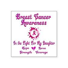 "Breast Cancer Awareness Square Sticker 3"" x 3"""