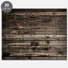 rustic barnwood western country Puzzle
