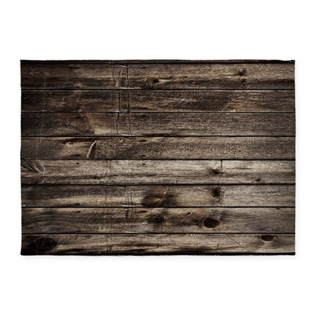 Rustic Barnwood Western Country 5 X7 Area Rug By Listing