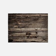 rustic barnwood western country 5'x7'Area Rug