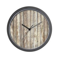 rustic barnwood western country Wall Clock