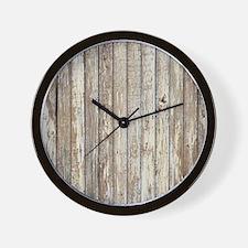 rustic barnwood western country Wall Clock