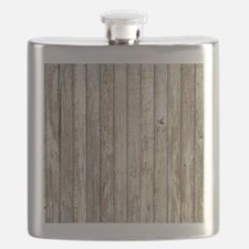 rustic barnwood western country Flask