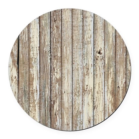 rustic barnwood western country Round Car Magnet