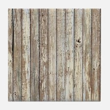 rustic barnwood western country Tile Coaster