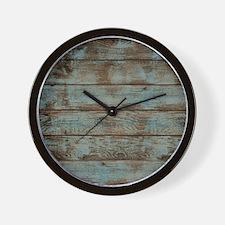 rustic barnwood woodgrain Wall Clock