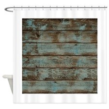 rustic barnwood woodgrain Shower Curtain