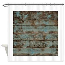Rustic Barnwood Woodgrain Shower Curtain For
