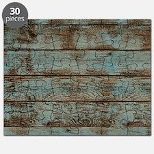 rustic barnwood woodgrain Puzzle