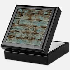 rustic barnwood woodgrain Keepsake Box