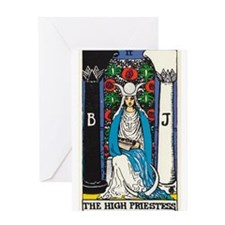 HIGH PRIESTESS TAROT CARD Greeting Cards