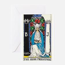 HIGH PRIESTESS TAROT CARD Greeting Cards