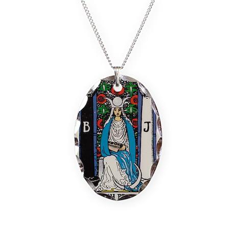 High Priestess Tarot Card Necklace By Lunagirl Images