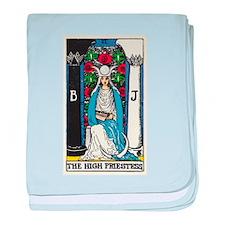 HIGH PRIESTESS TAROT CARD baby blanket