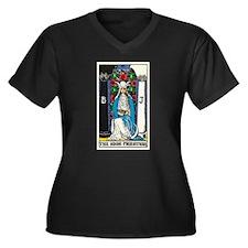 HIGH PRIESTESS TAROT CARD Plus Size T-Shirt