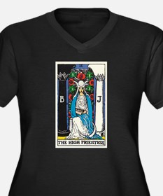 HIGH PRIESTESS TAROT CARD Plus Size T-Shirt