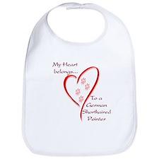 GSP Heart Belongs Bib