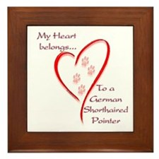 GSP Heart Belongs Framed Tile