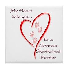 GSP Heart Belongs Tile Coaster