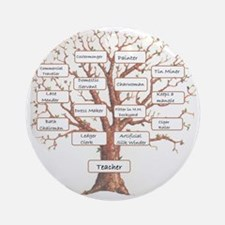 Family Occupation Tree Round Ornament