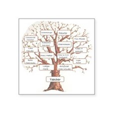 "Family Occupation Tree Square Sticker 3"" x 3"""