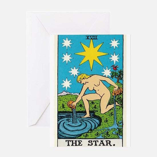 THE STAR TAROT CARD Greeting Cards