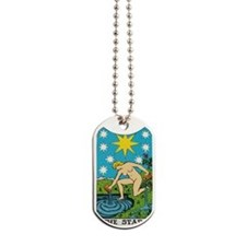 THE STAR TAROT CARD Dog Tags
