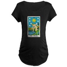 THE STAR TAROT CARD Maternity T-Shirt