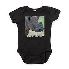 Love Rhinos Baby Bodysuit