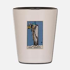 THE HERMIT TAROT CARD Shot Glass