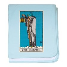 THE HERMIT TAROT CARD baby blanket